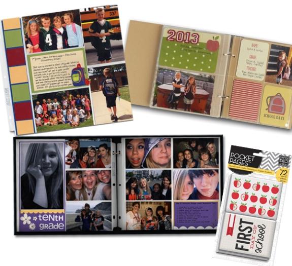 School pocket page albums