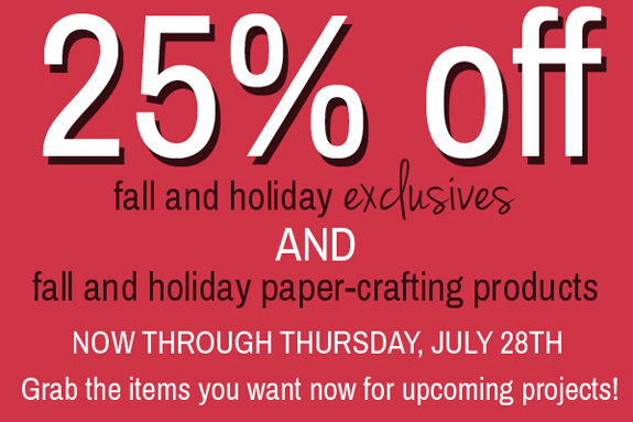 Holiday preview week sale